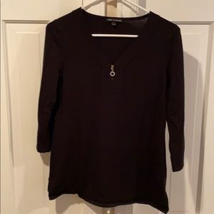 Cable & Gauge Vneck sweater, small